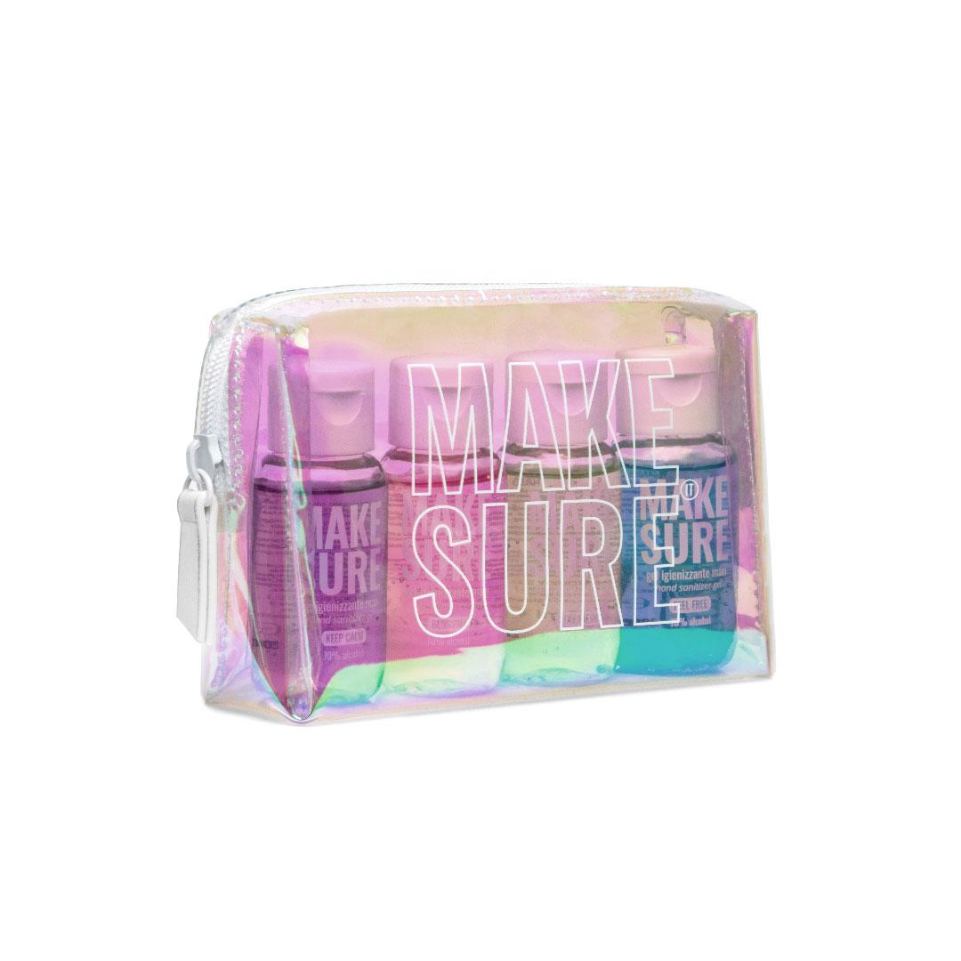 kit rainbow gel igienizzanti mani 50ml colorati e profumati make-sure