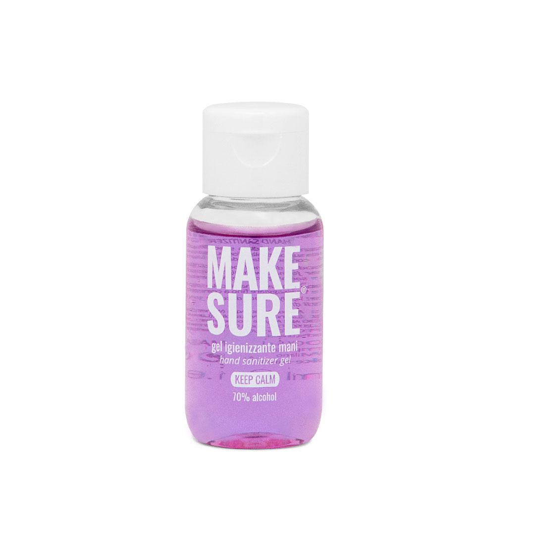 gel igienizzante mani 50ml colorato e profumato lavanda e vaniglia keep calm make-sure