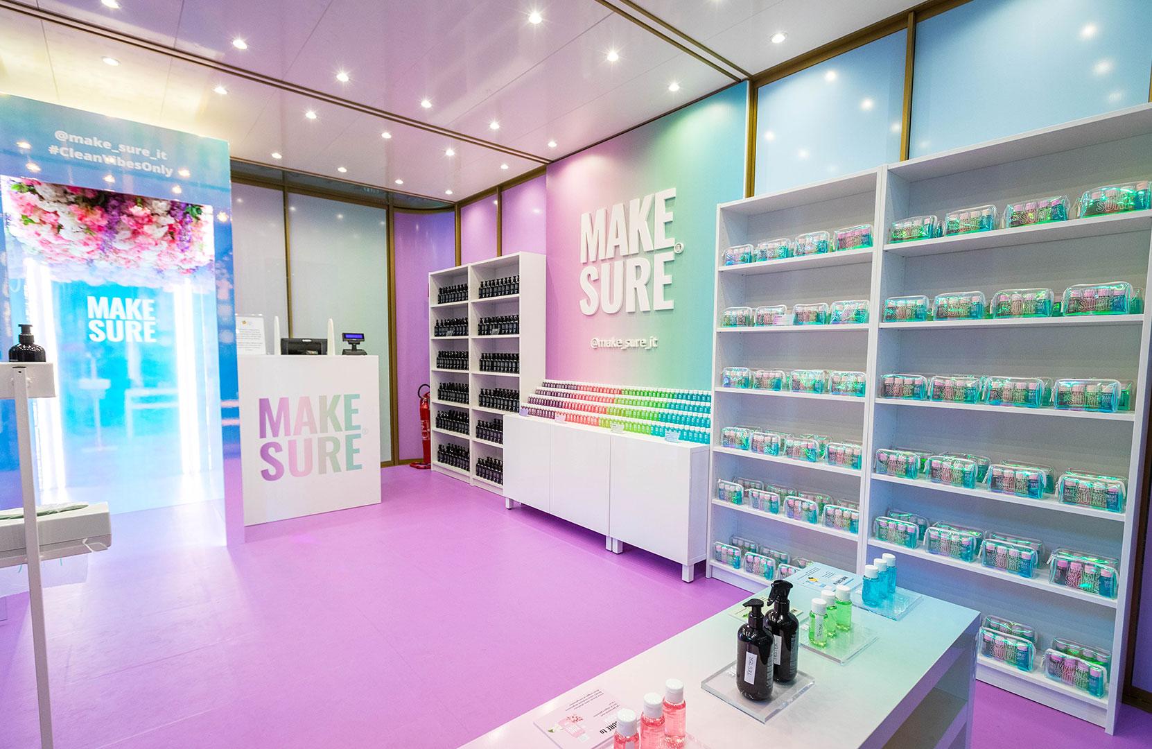 make-sure pop-up store milan